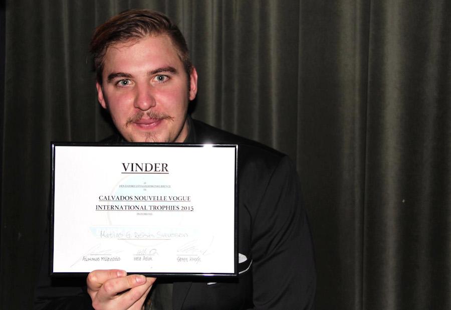 Matias Svenssson blev dagens professionelle finalist.