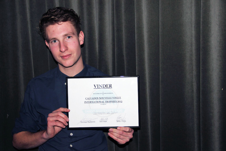 Christopher Lee Dahm blev dagens finalist blandt bartendereleverne. Foto: Iza Bahn Havelund.