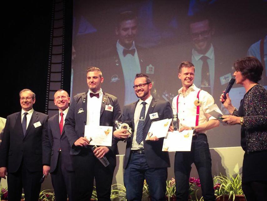 Finske Markus Sillanpää (2. fra højre) tog sejren i den prestigefyldte konkurrence. Danske Matias Svensson (3. fra højre) vandt en velfortjent 3. plads.