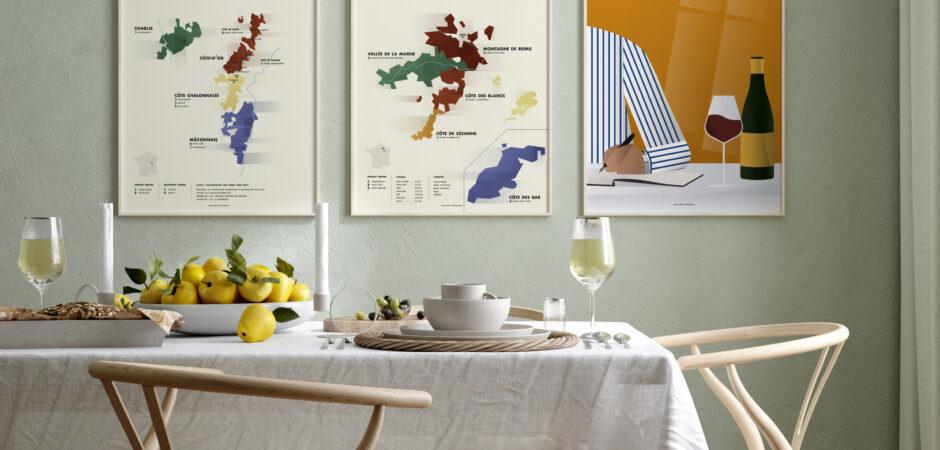 Se mine nye vinkort og -plakater i samarbejde med Munter Studio