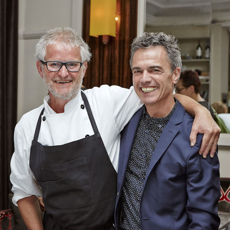 Det gode venskab mellem Francis Cardenau og Søren Wiuff bekræftes tydeligt. Foto: Flemming Gernyx.