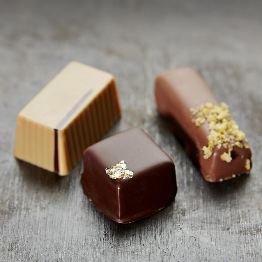 Smukke chokolader - både visuelt og smagsmæssigt. Foto: Flemming Gernyx
