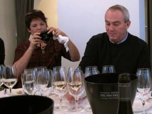 Smagning af vinene fra Greywacke på Restaurant AOC