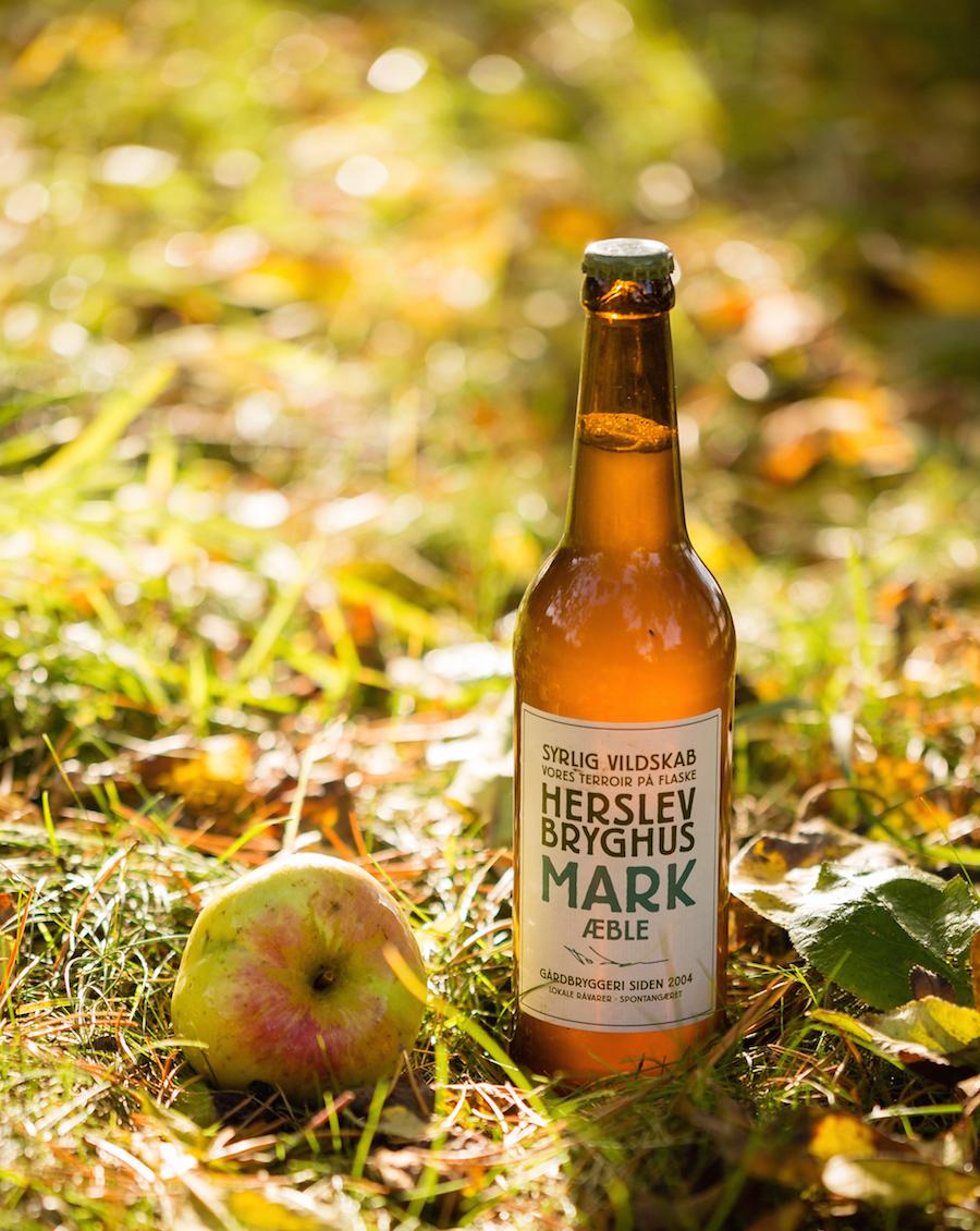Mark Hø med æble er min favorit - frisk og spændstig syre og komplekse gæraromaer. Foto: Herslev Bryghus.