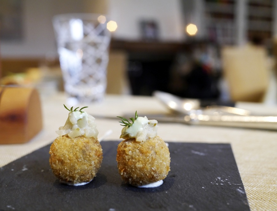 Croquettes with braised ox tale - pure tastiness.