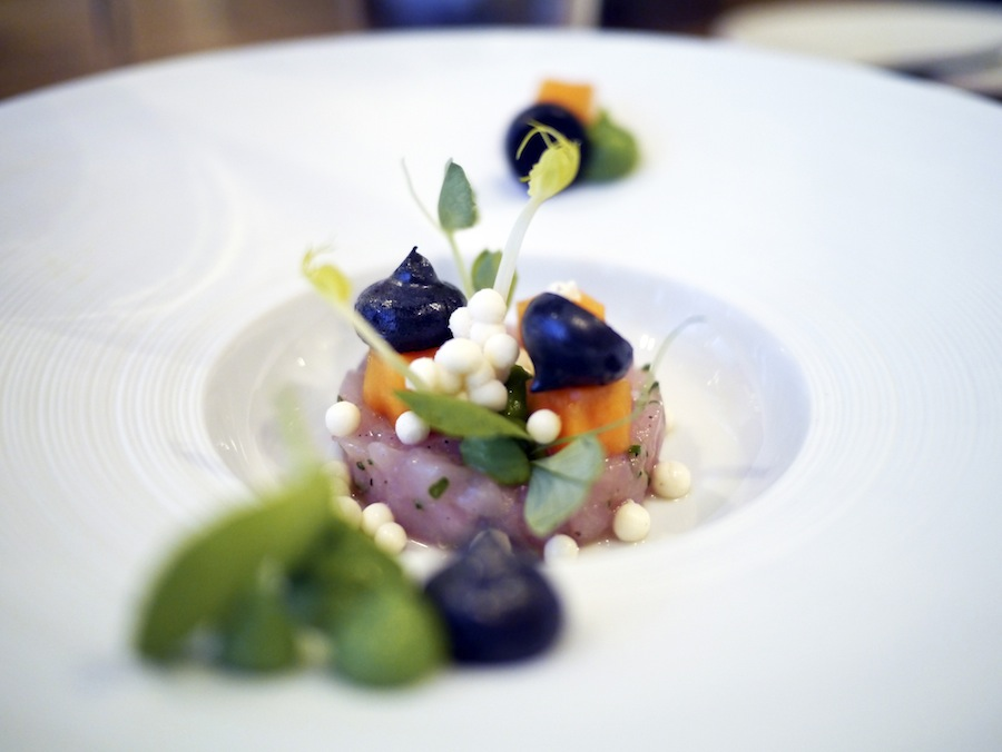 Another great dish with smoked rabbit tartar.