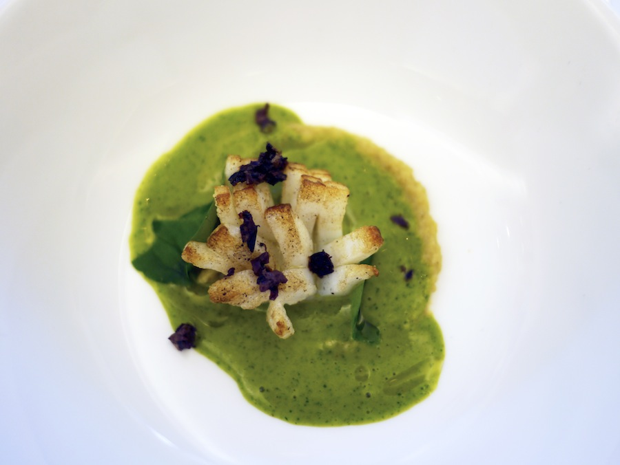 Squid, peas and chickpeas - a nice beginning to the lunch.