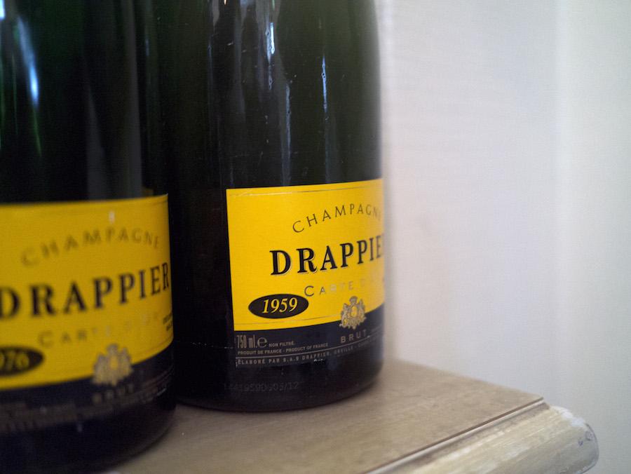 Der blev smagt på gamle sager fra Drappier ved samme lejlighed.