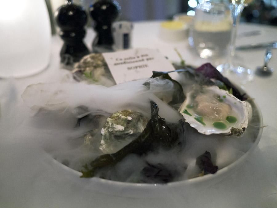 Gillardeau-østers med