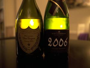 Champagnetest: 2006 Moët Grand Vintage vs. 2004 Dom Pérignon