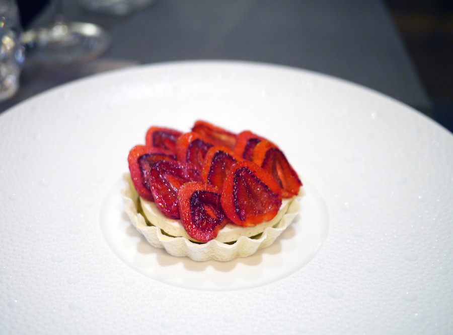 Jordbærtærte for viderekomne med lang peber.
