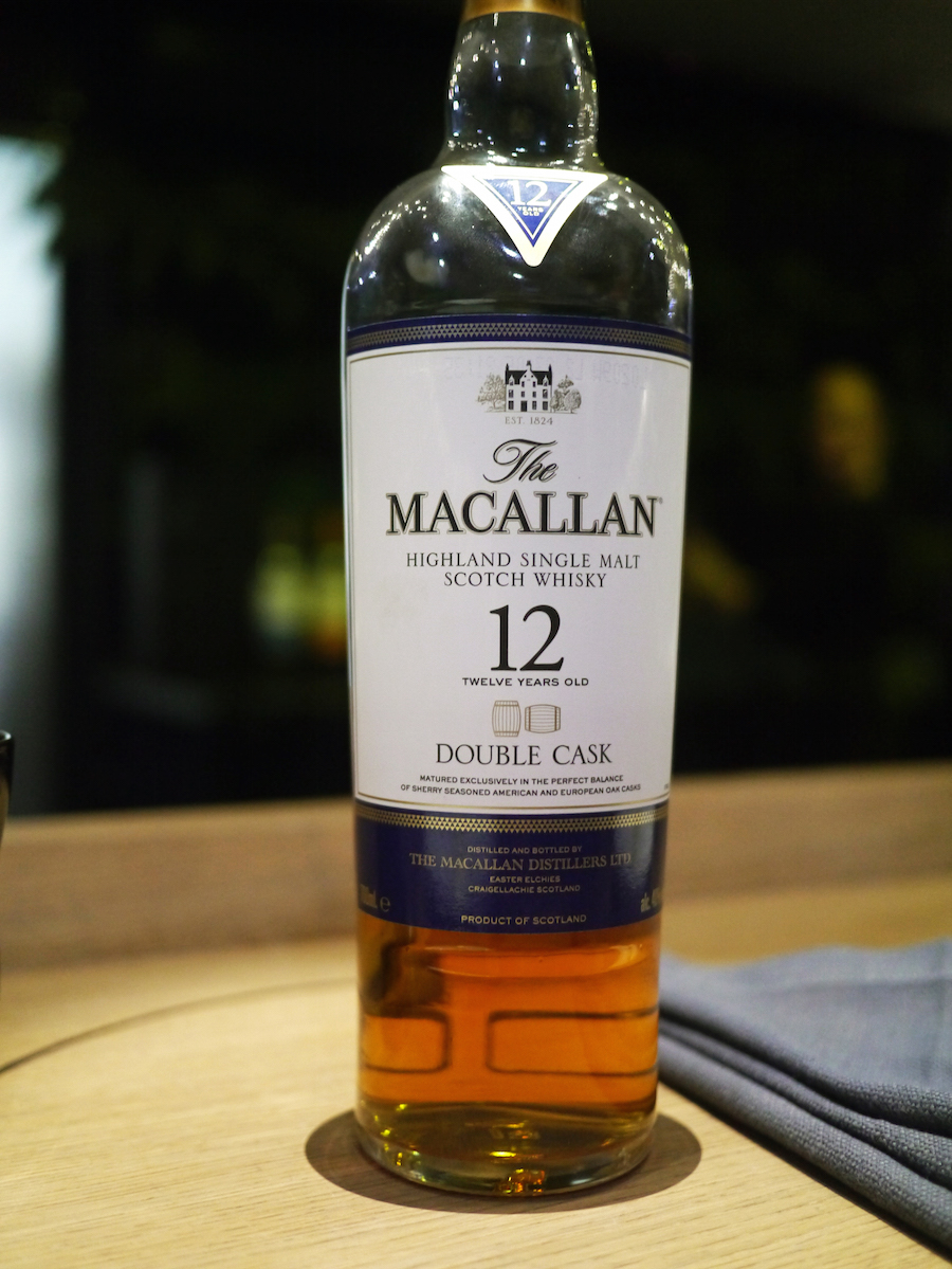 Denne flaske, The Macallan Double Cask, kommer i handlen herhjemme i december.