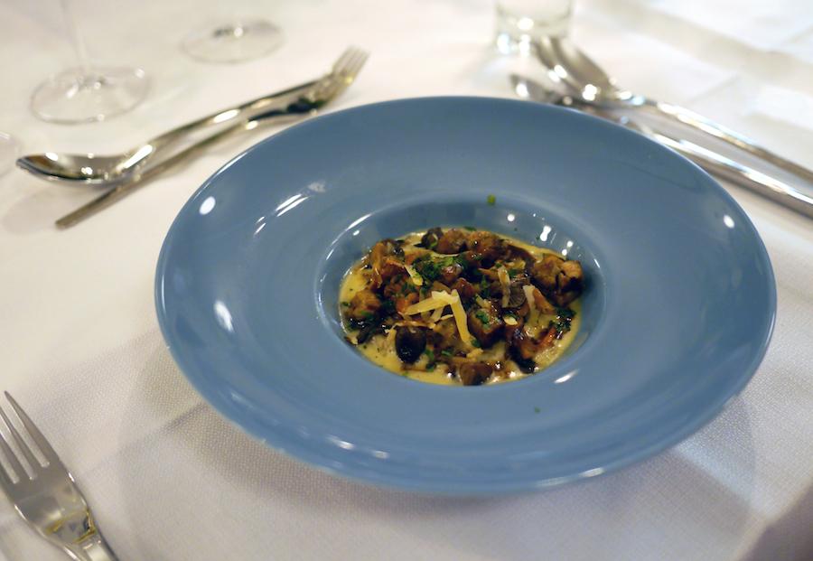 Bygotto, foie gras og svampe, Jens Peter Kolbeck.