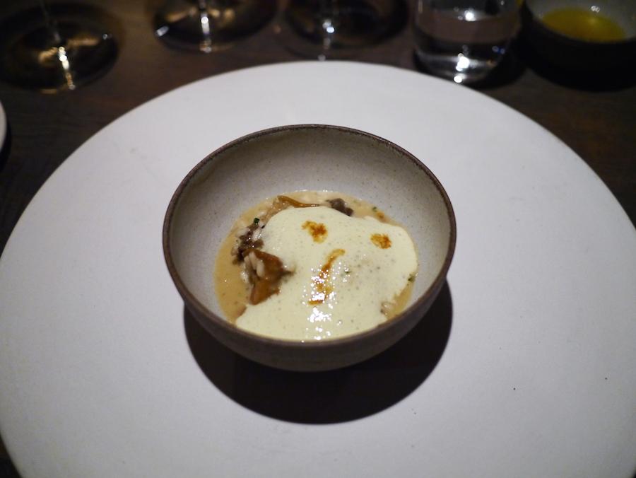 Risotto med svampe og bipollen.