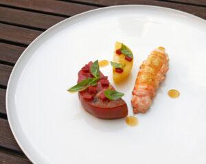 Opskrift – jomfruhummer, tomat og chorizo med Copenhagen Sparkling Tea RØD