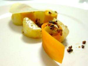 Opskrift – kammuslinger, gulerod, æble, brunet smør