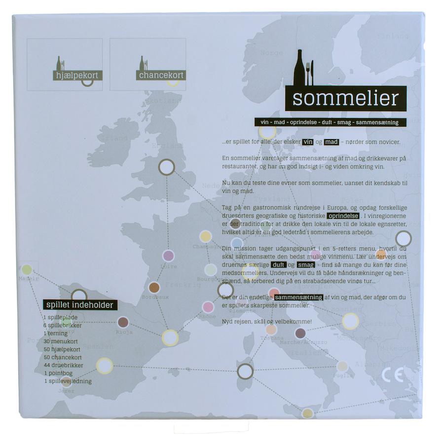 Spillepladen er designet som et europakort med de vigtigste vinregioner som spillefelter. Foto: Sommelier